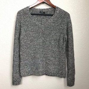 Max Mara Weekend V-neck Sweater Back & Gray Medium